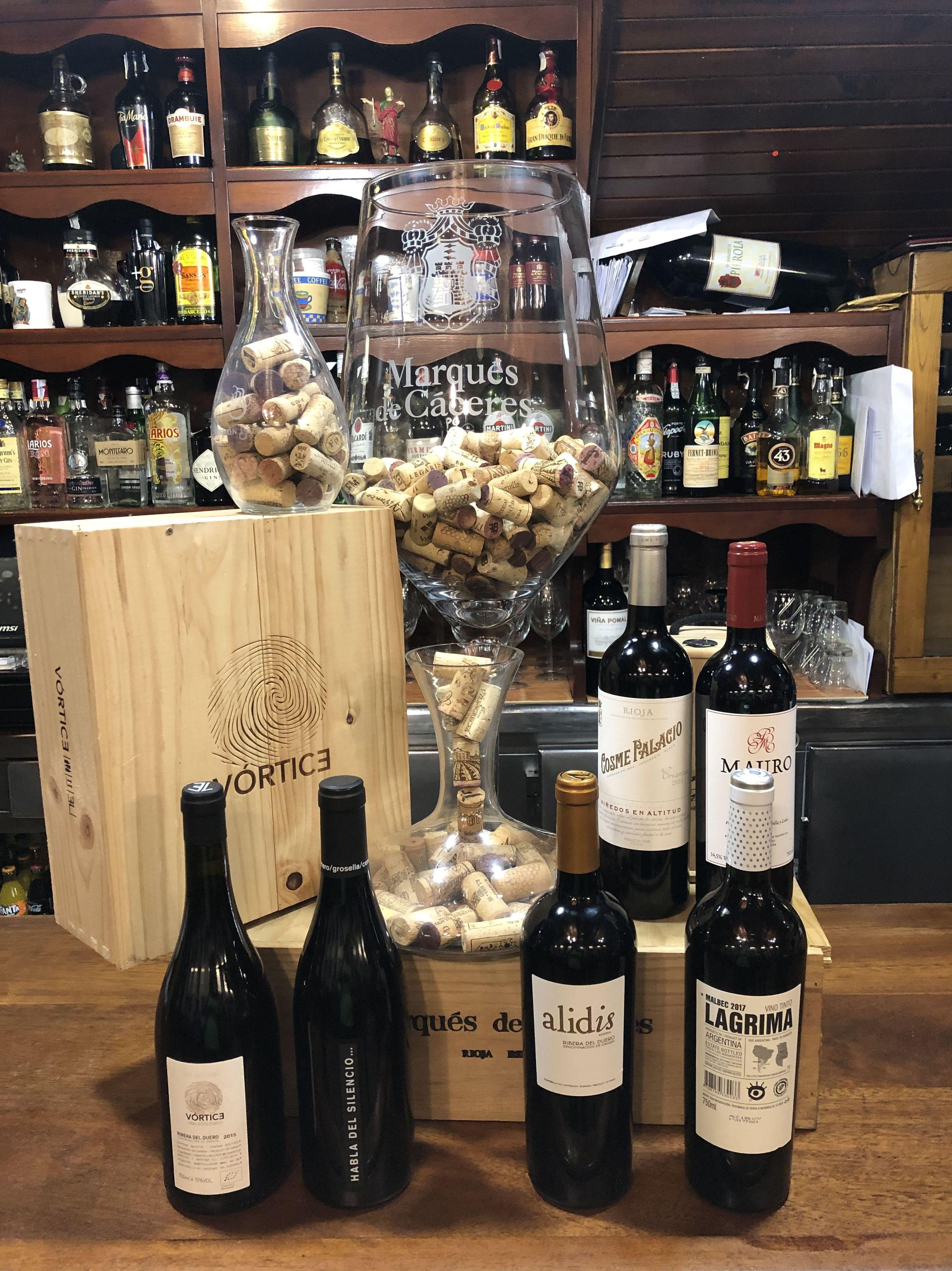 Selección de vinos tintos - Parrillada Buenos Aires A Coruña