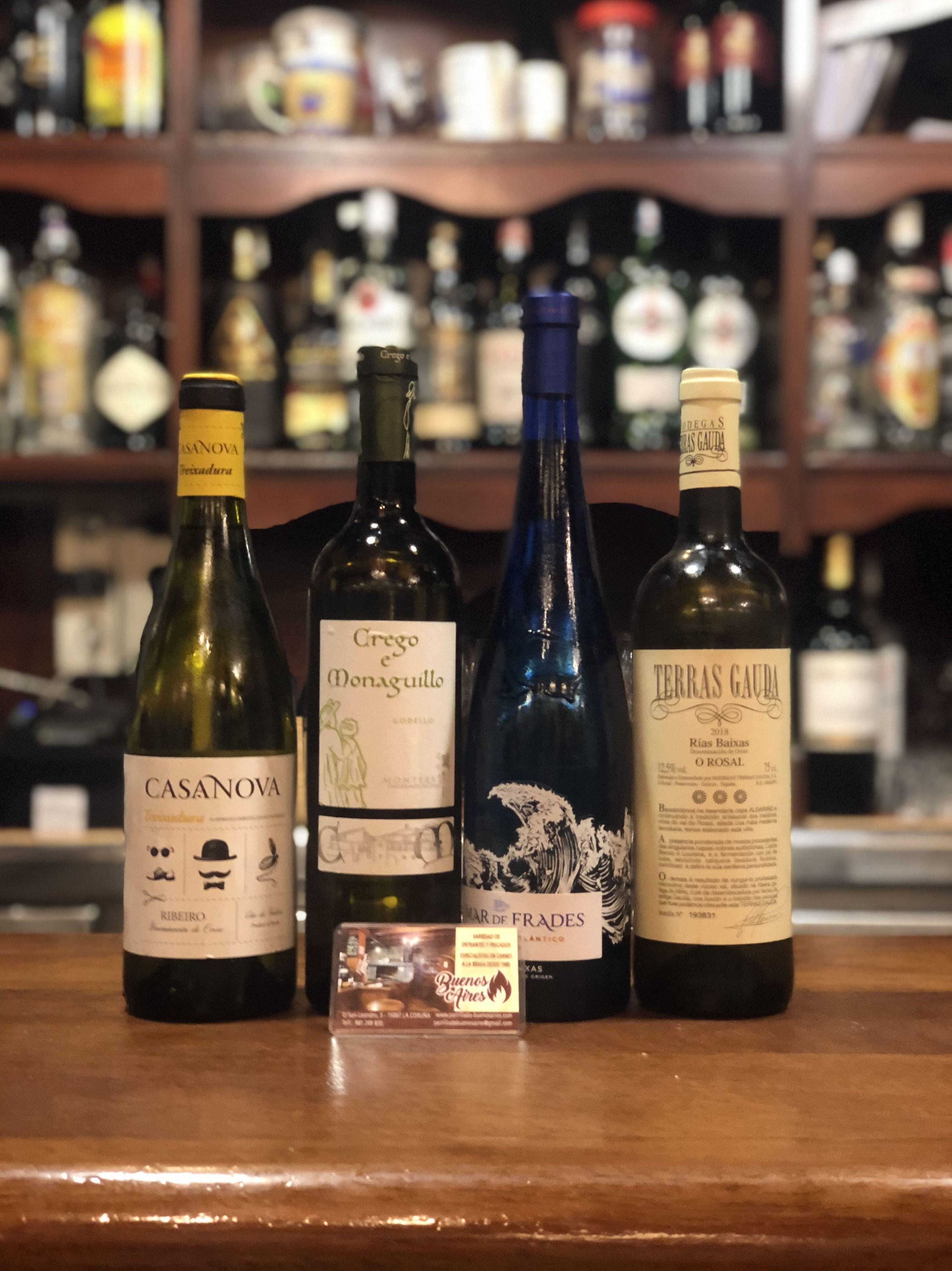 Vinos blancos - Parrillada Buenos Aires A Coruña
