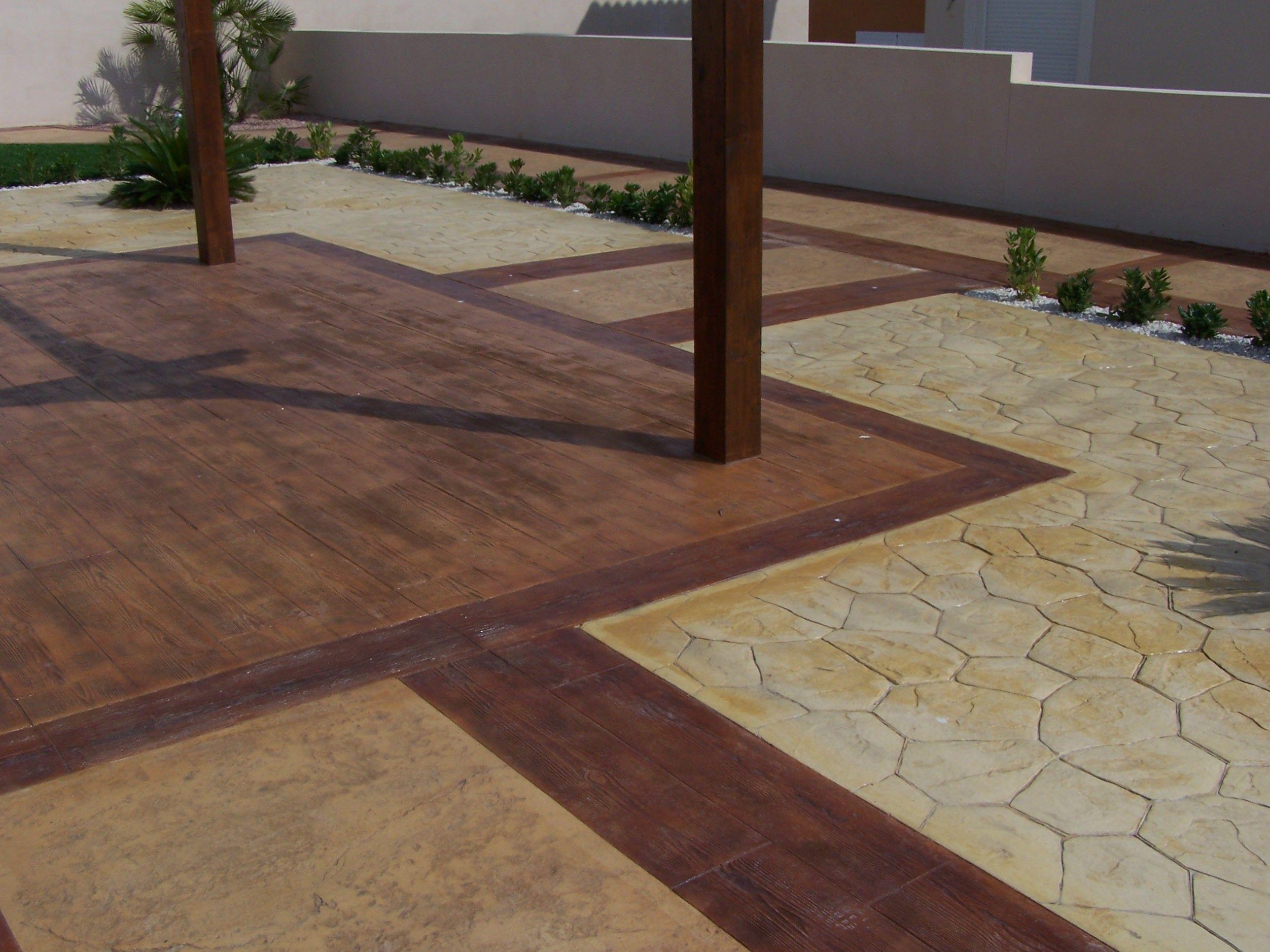 Pavimento impreso morcret cat logo hormigon impreso de for Pavimentos de jardin