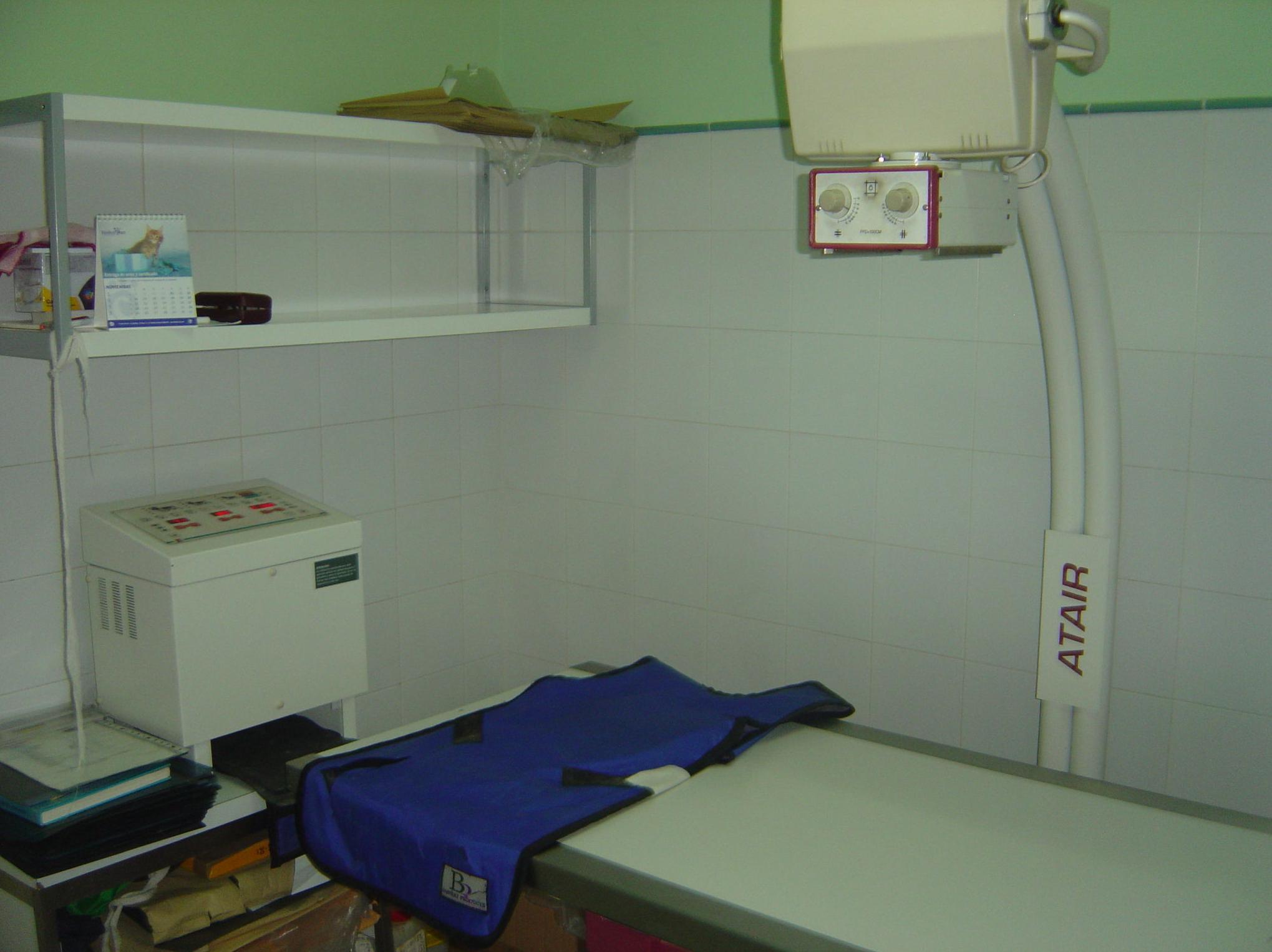 Sala de rayos X - Clínica Veterinaria Albeitar - Toledo