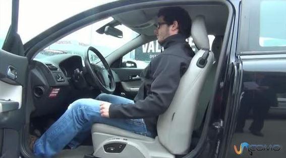 posición del asiento del conductor