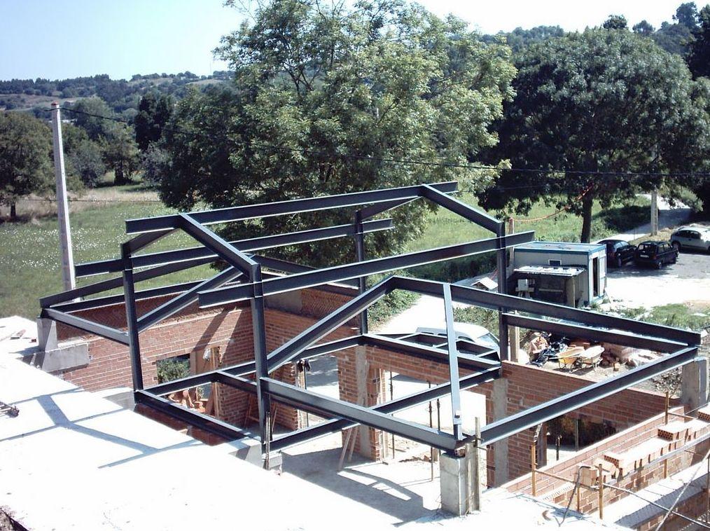 Estructuras met licas servicios de paneles est vez ribeiro - Estructura metalicas para casas ...