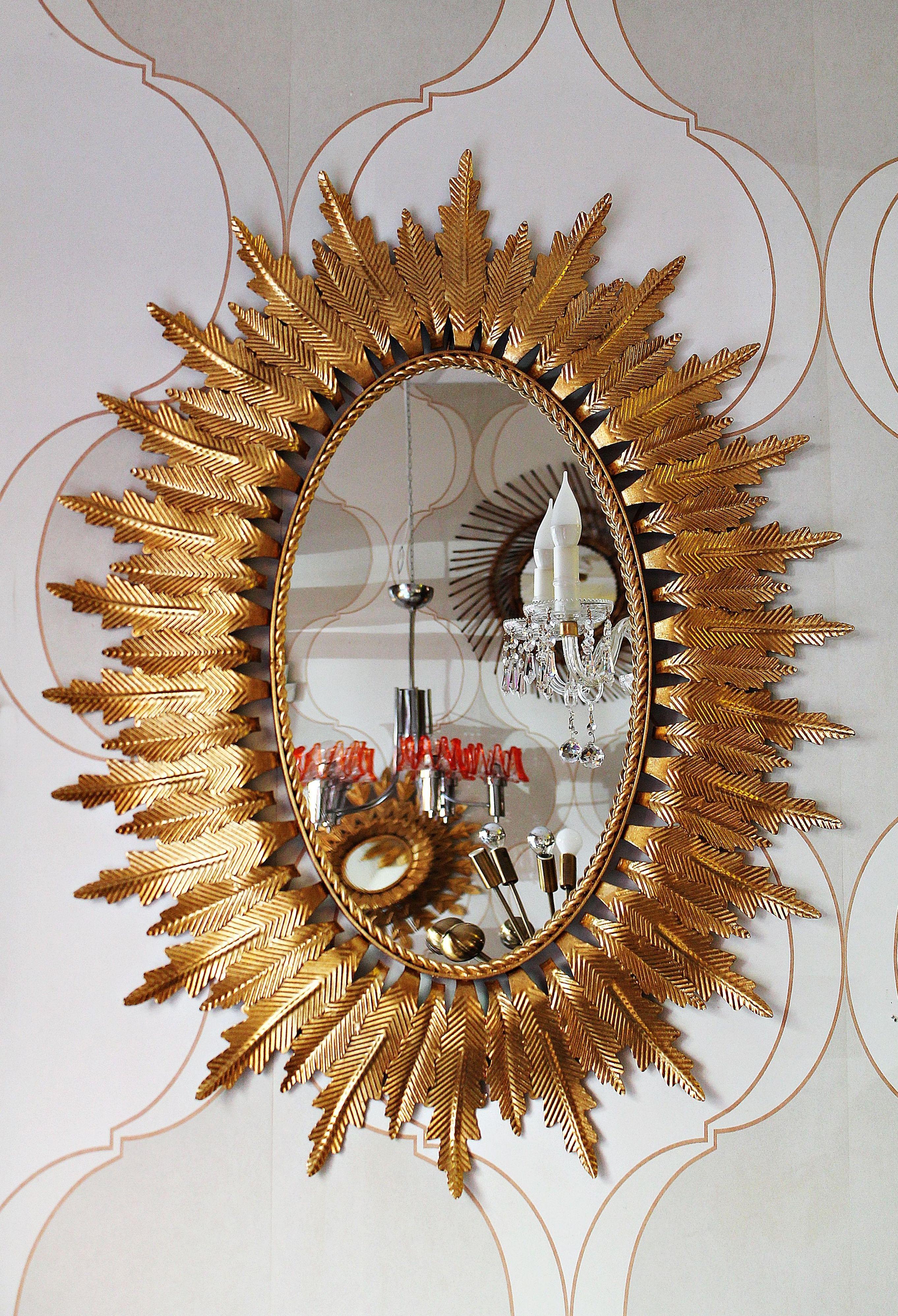 Magnifico espejo de forja restaurado.: Artículos  de Ruzafa Vintage