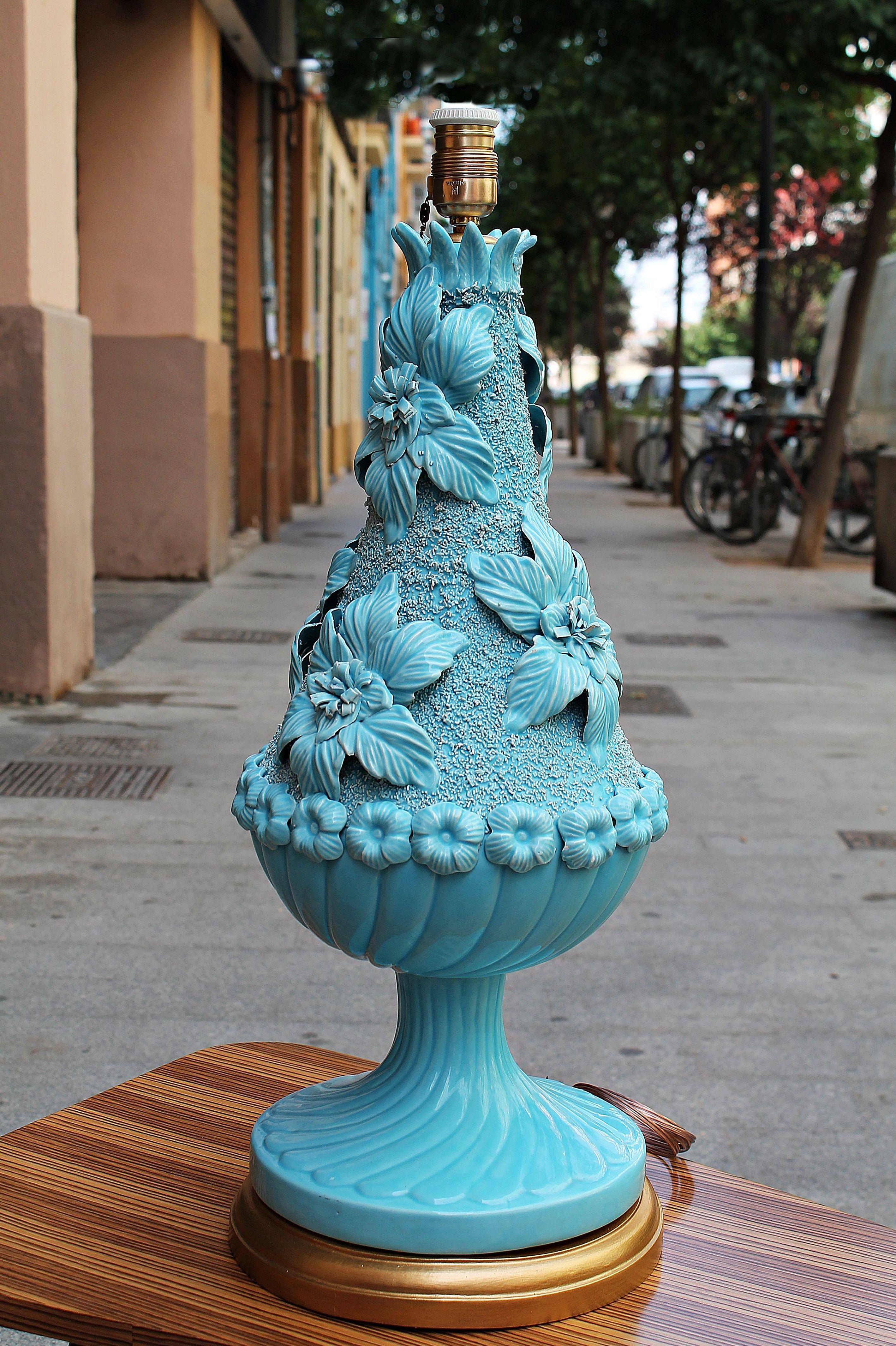 Espectacular lámpara de Manises marca Bondia: Artículos  de Ruzafa Vintage