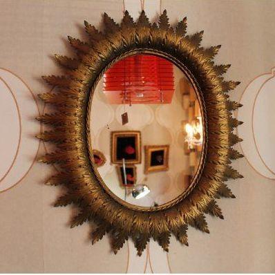 Espejo ovalado pan de oro: Artículos  de Ruzafa Vintage