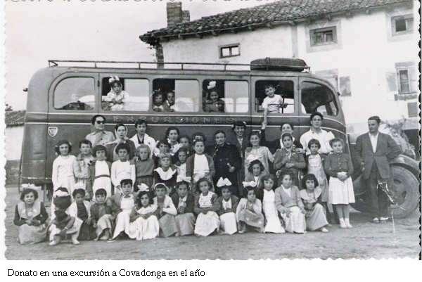 Fundador Donato en una excursión a Covadonga