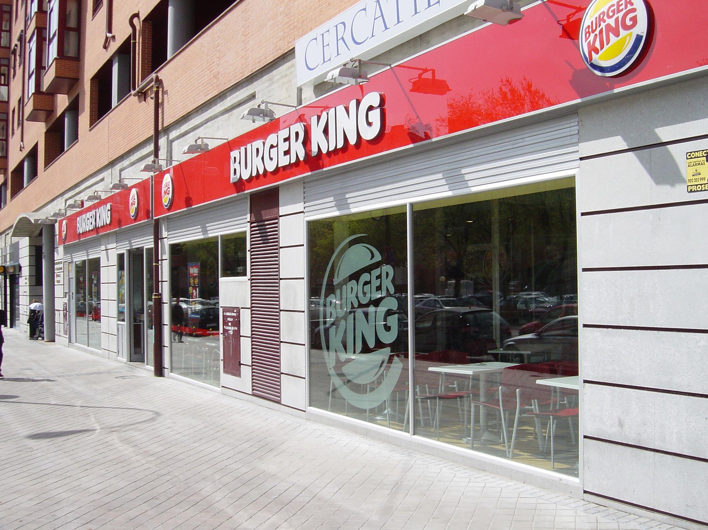 Rótulos para la cadena de hamburguesas Burguer King