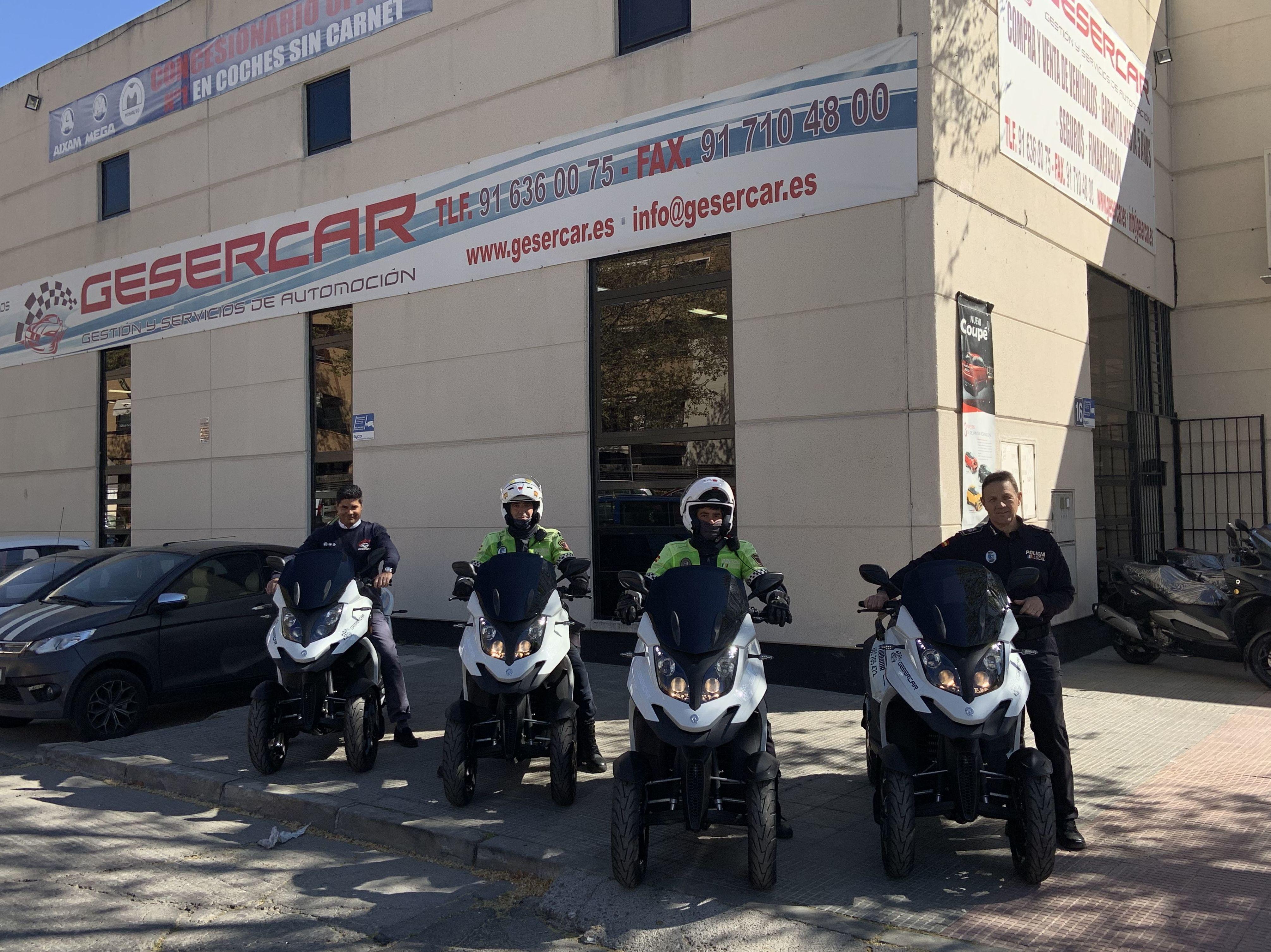 Gesercar y Policia de Las Rozas
