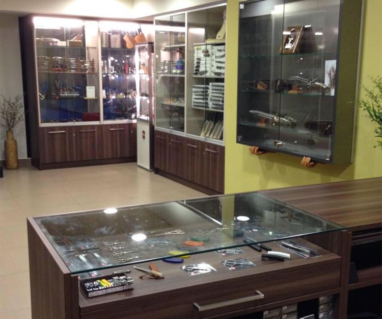 Inside of our cutlery shop in Zaragoza