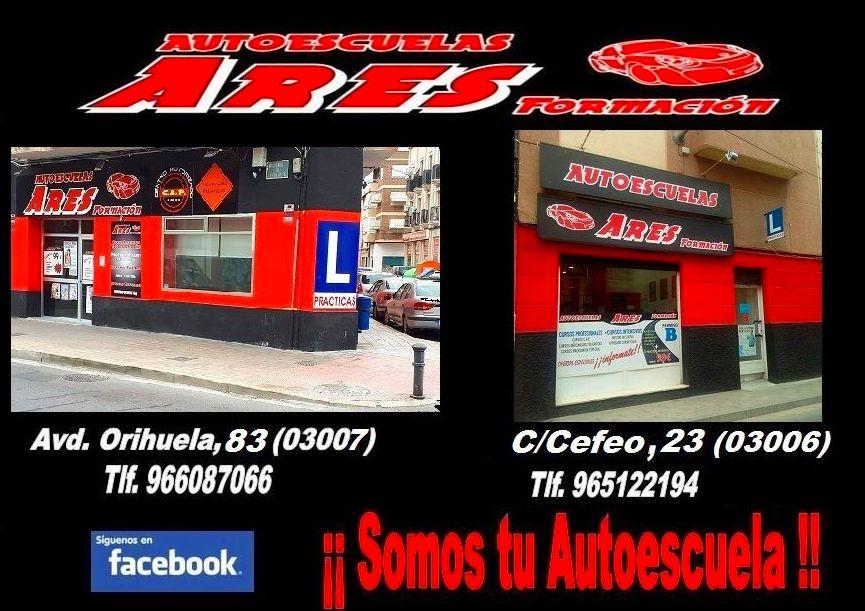 Foto 12 de Autoescuelas en Alicante   Autoescuelas Ares Formación