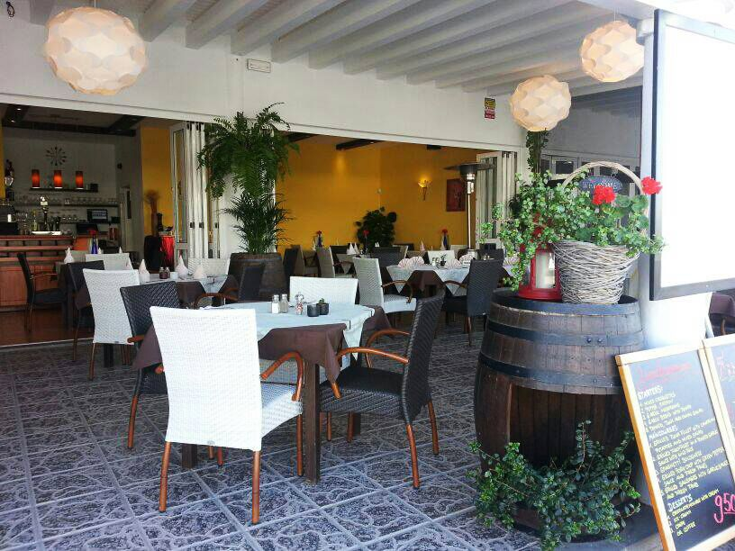 Restaurant with menu in Lanzarote