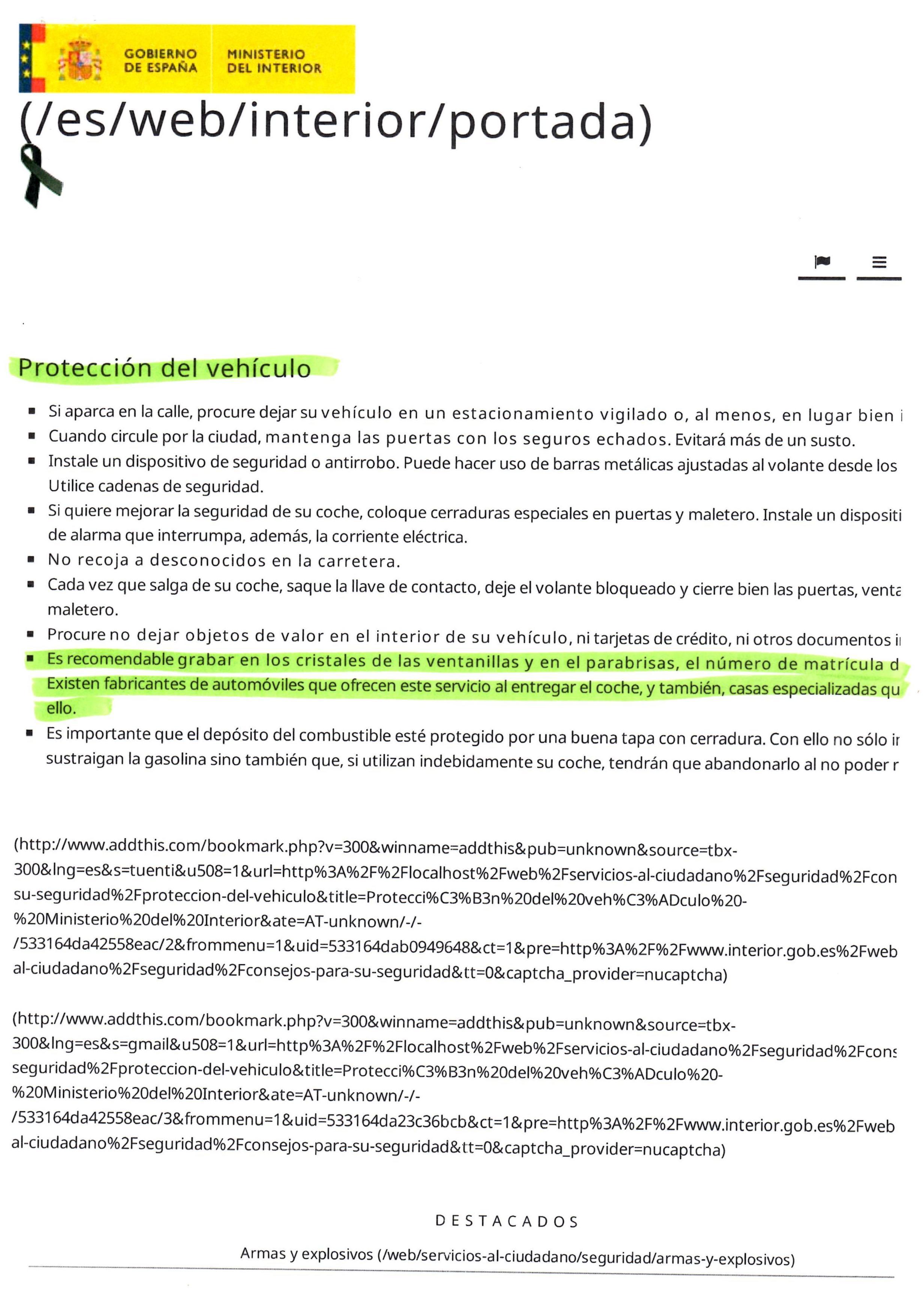 Recomendacion ministerio del interior for Turnos ministerio del interior legalizaciones