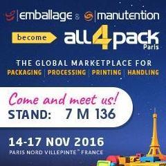 Estamos en ALL4PACK-VIPARIS-EMBALLAGE (París)