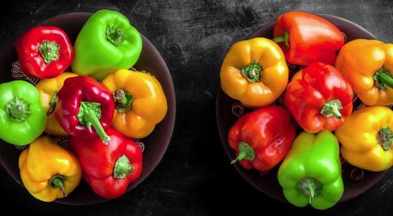 El verdadero motivo de los diferentes colores de pimientos