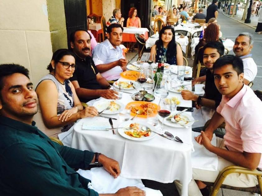 Comida de grupo en Marbella