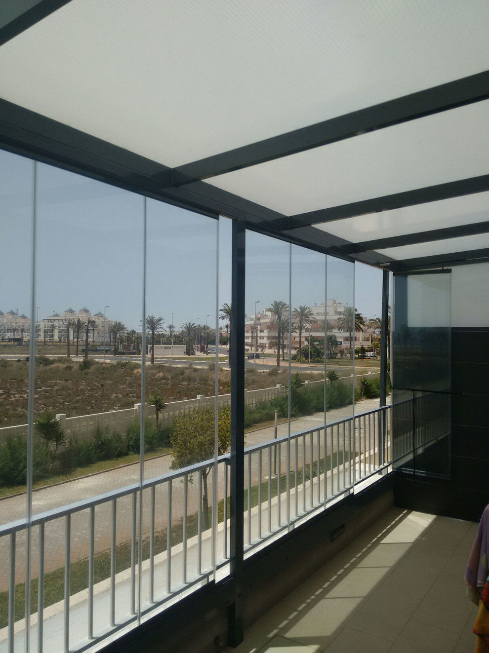 Cortinas de cristal para terrazas