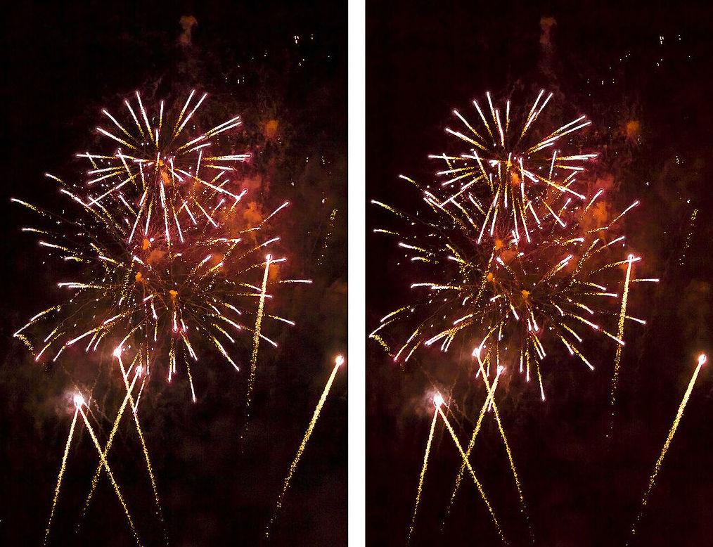 fuegos artificiales 3D