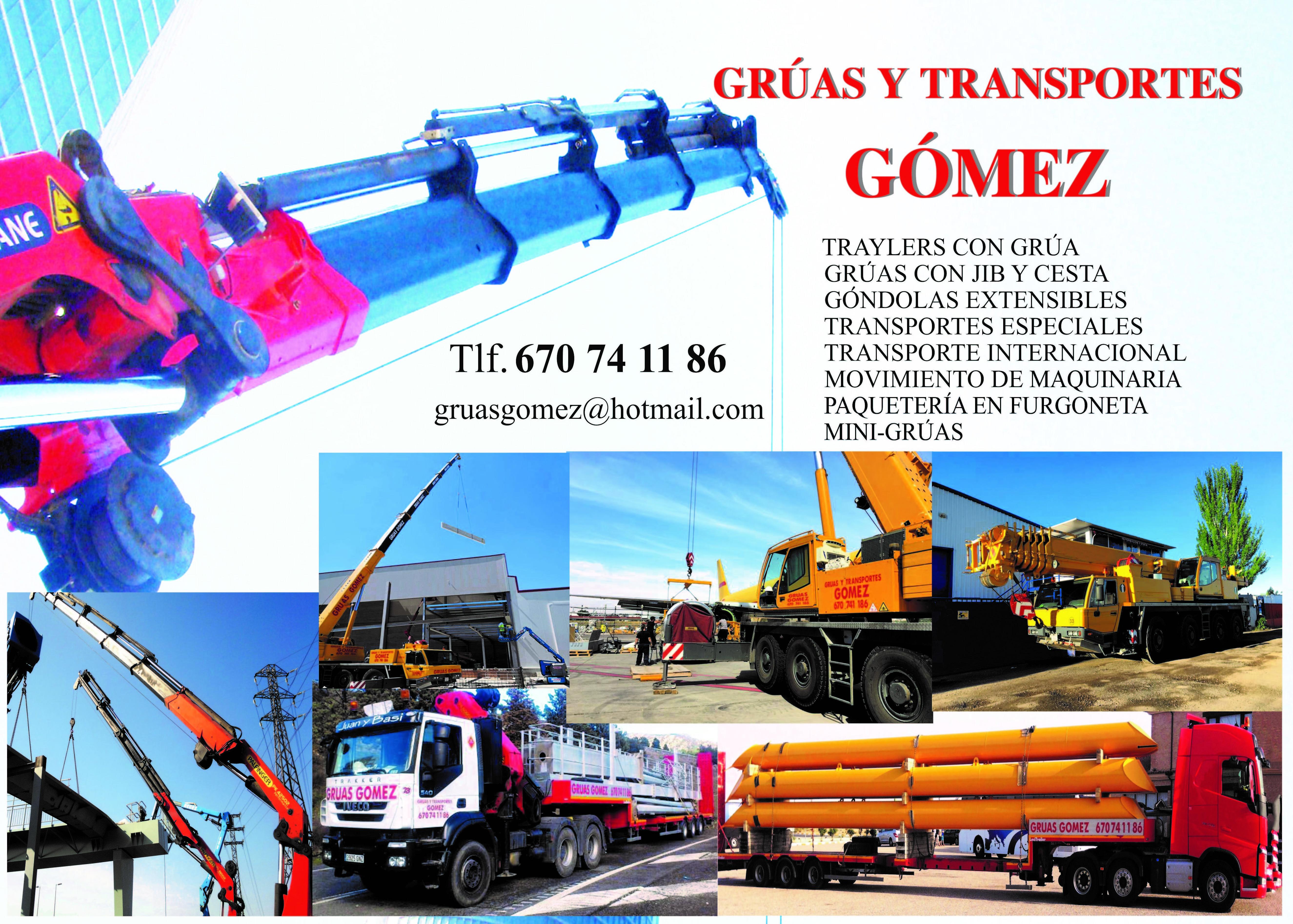 Foto 1 de Grúas (alquiler y venta) en    Grúas y Transportes Gómez, S.L.