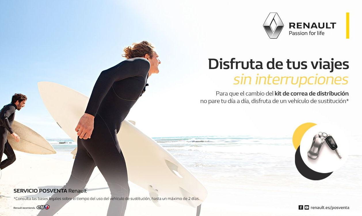 Vehículo de Sustitución gratis al cambiar la Correa de Distribución de tu Renault