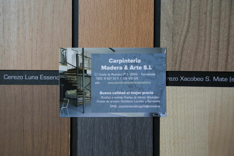 Foto 8 de Carpintería y Ebanistería en Fuenlabrada | Carpintería Madera y Arte