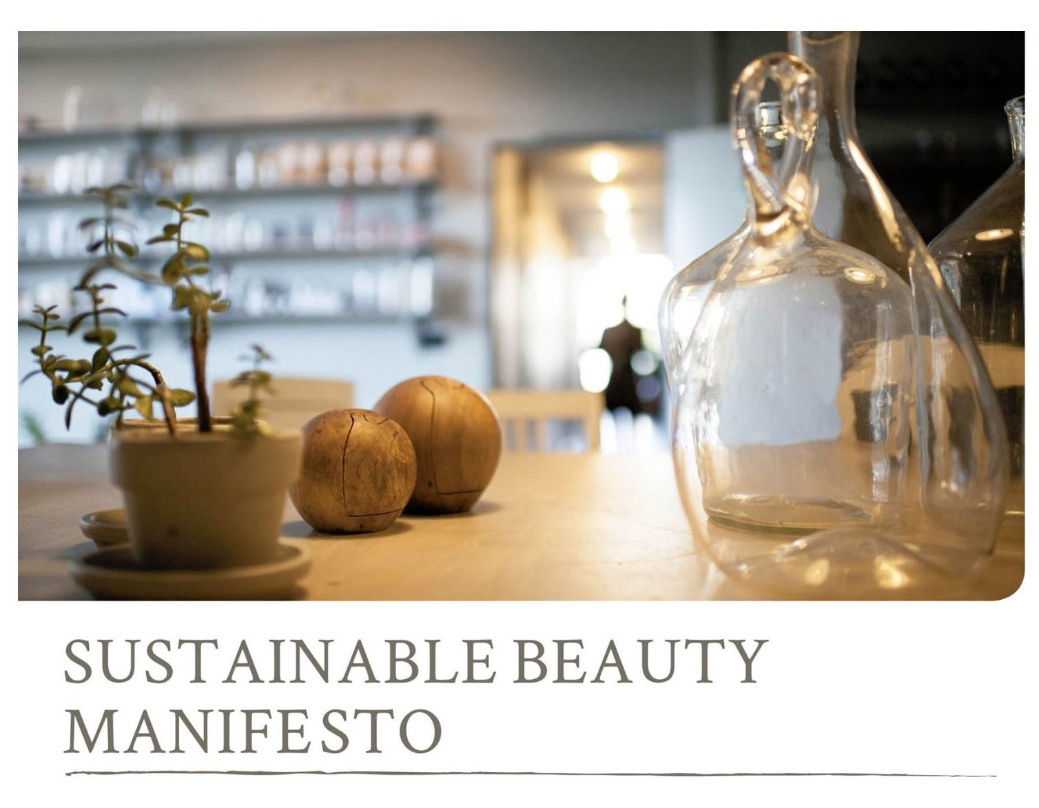 Sustainable Beauty MANIFIESTO