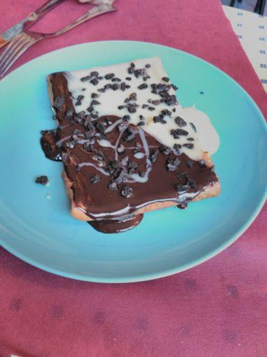 Crepe de chocolate blanco, negro y oreo