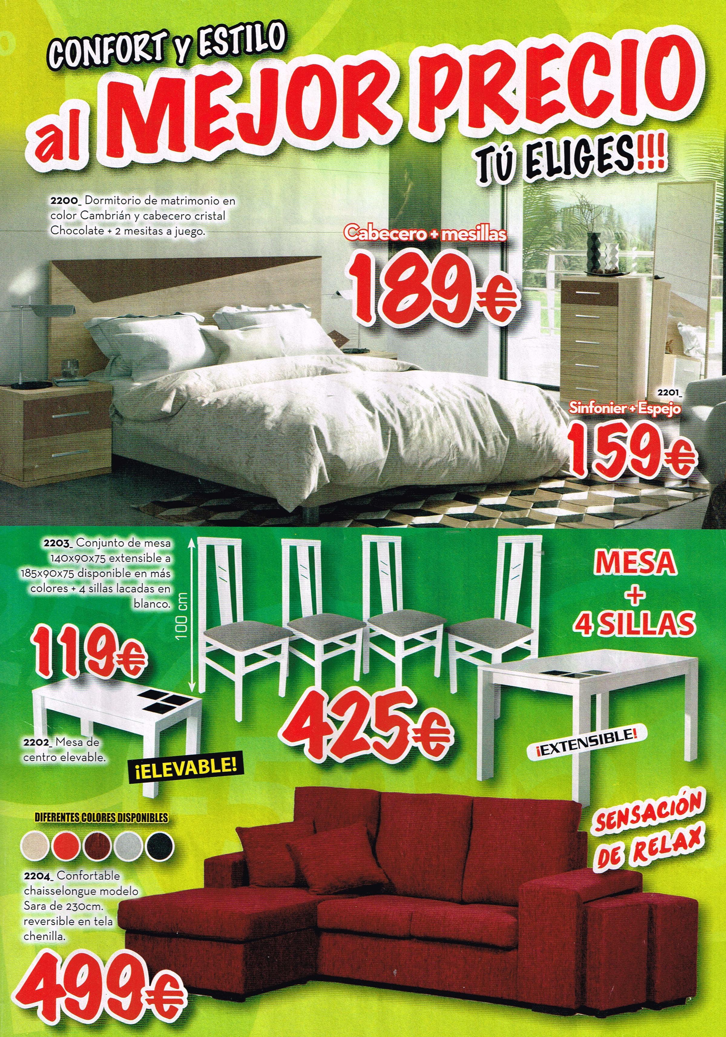 oferta de muebles