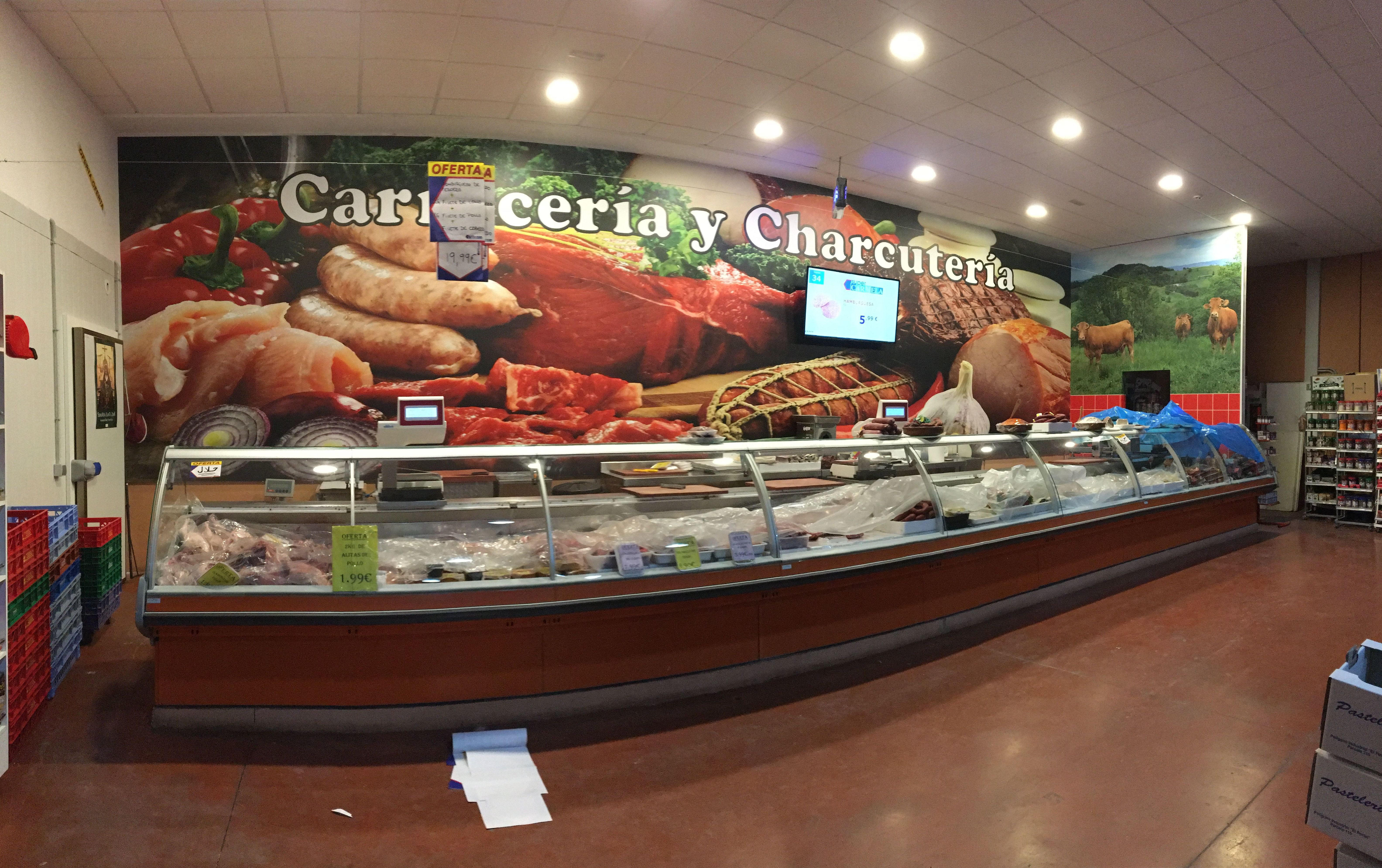 Vinilos impresos para supermercados Cádiz