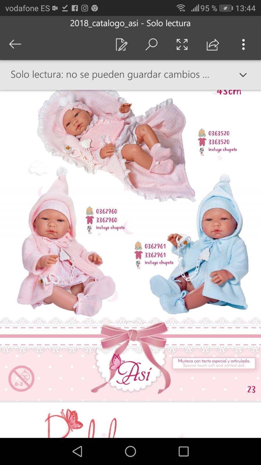 Catálogo muñecos bebé Lepe