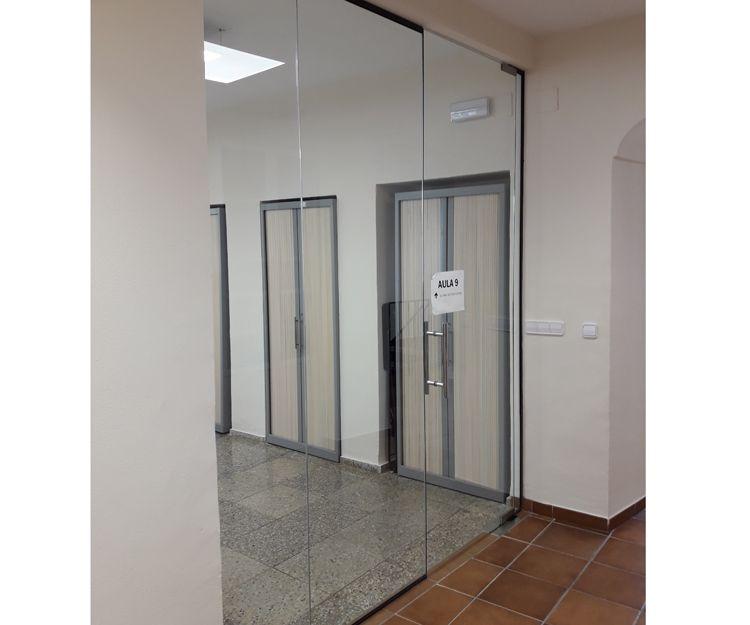 Cristal de acceso a oficinas