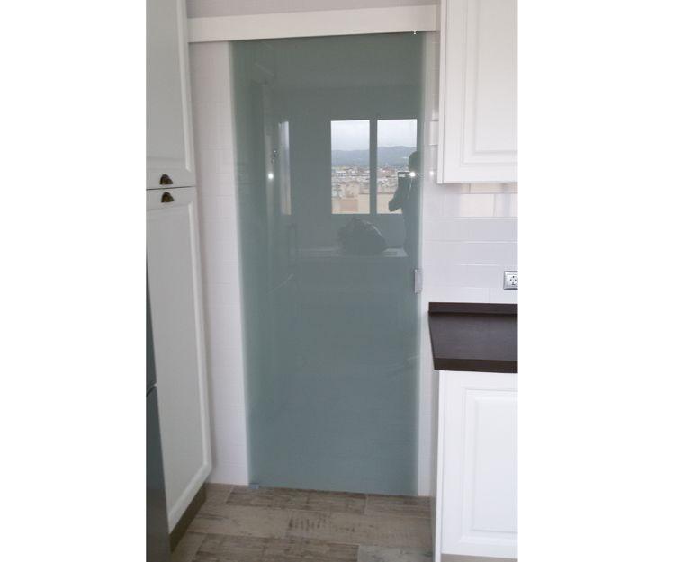 Puerta de cristales para particulares