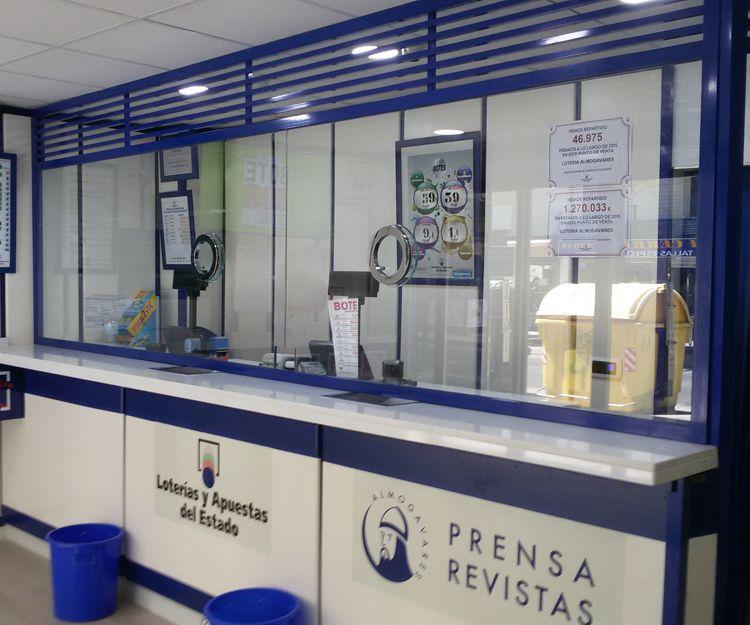 Cristalería para oficina de loterías