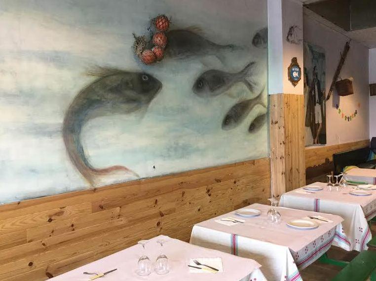Asador de pescado en Bilbao