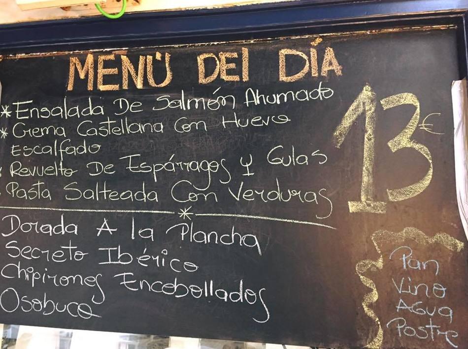 Restaurante con menú del día en Laredo