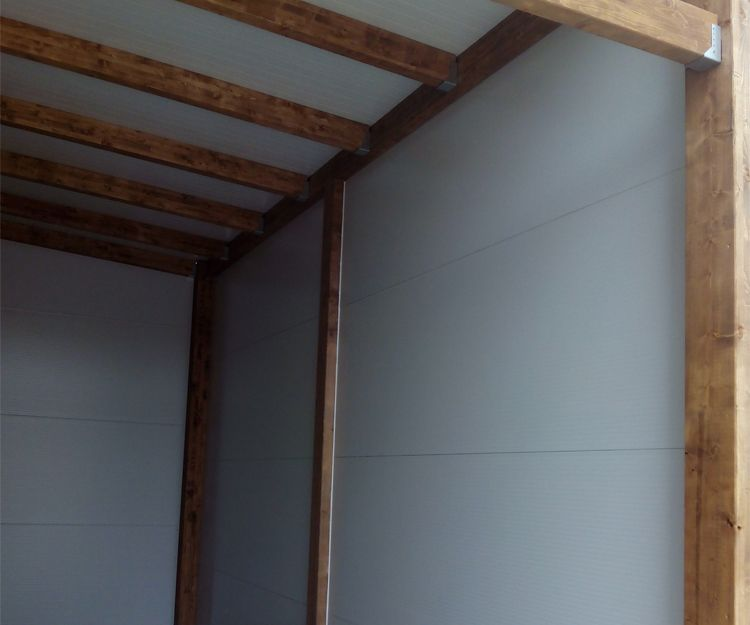Garaje de madera en Sant Antoni de Vilamajor