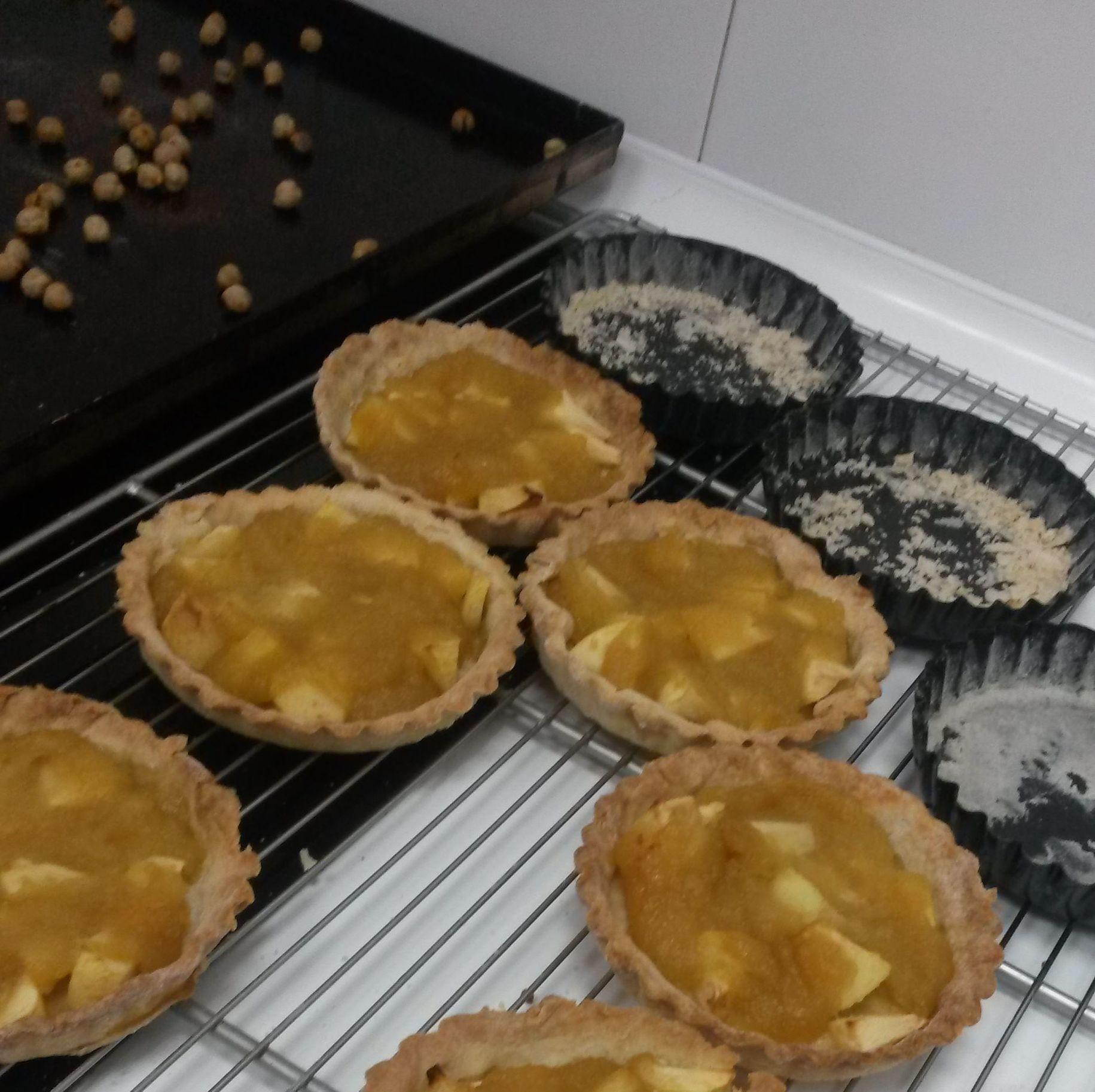 Ttartitas de pastaflora Manzana y compota