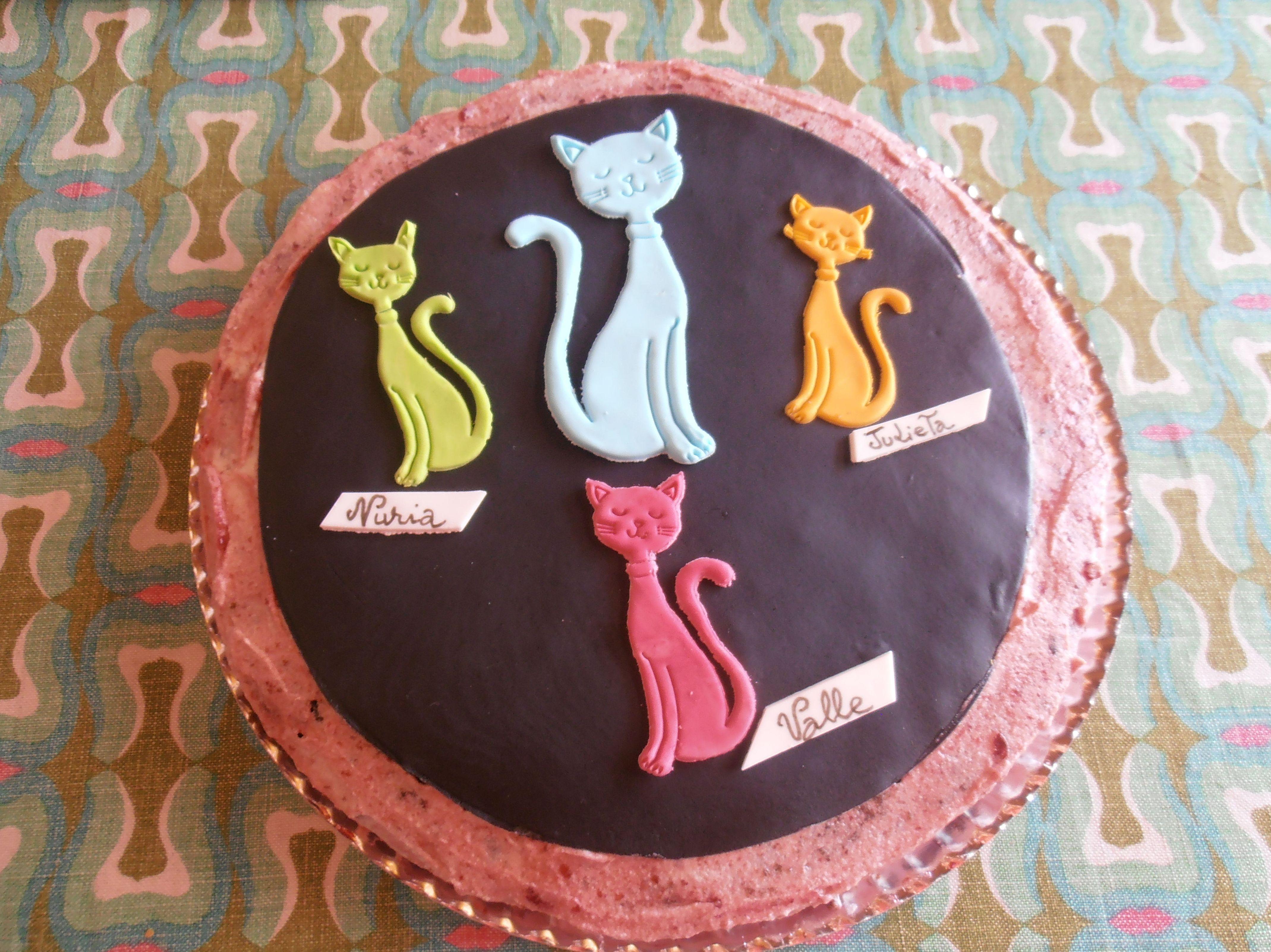Tartas creativas con gatitos