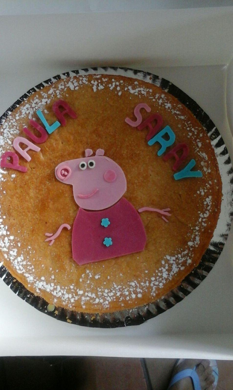 Tarta para Paula y Saray