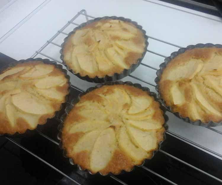 Tartas de manzana veganas