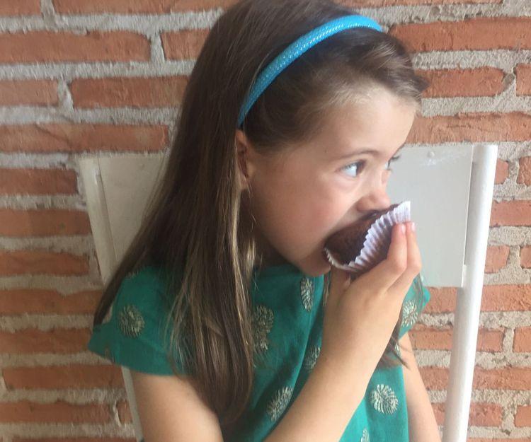 Disfrutando de las magdalenas