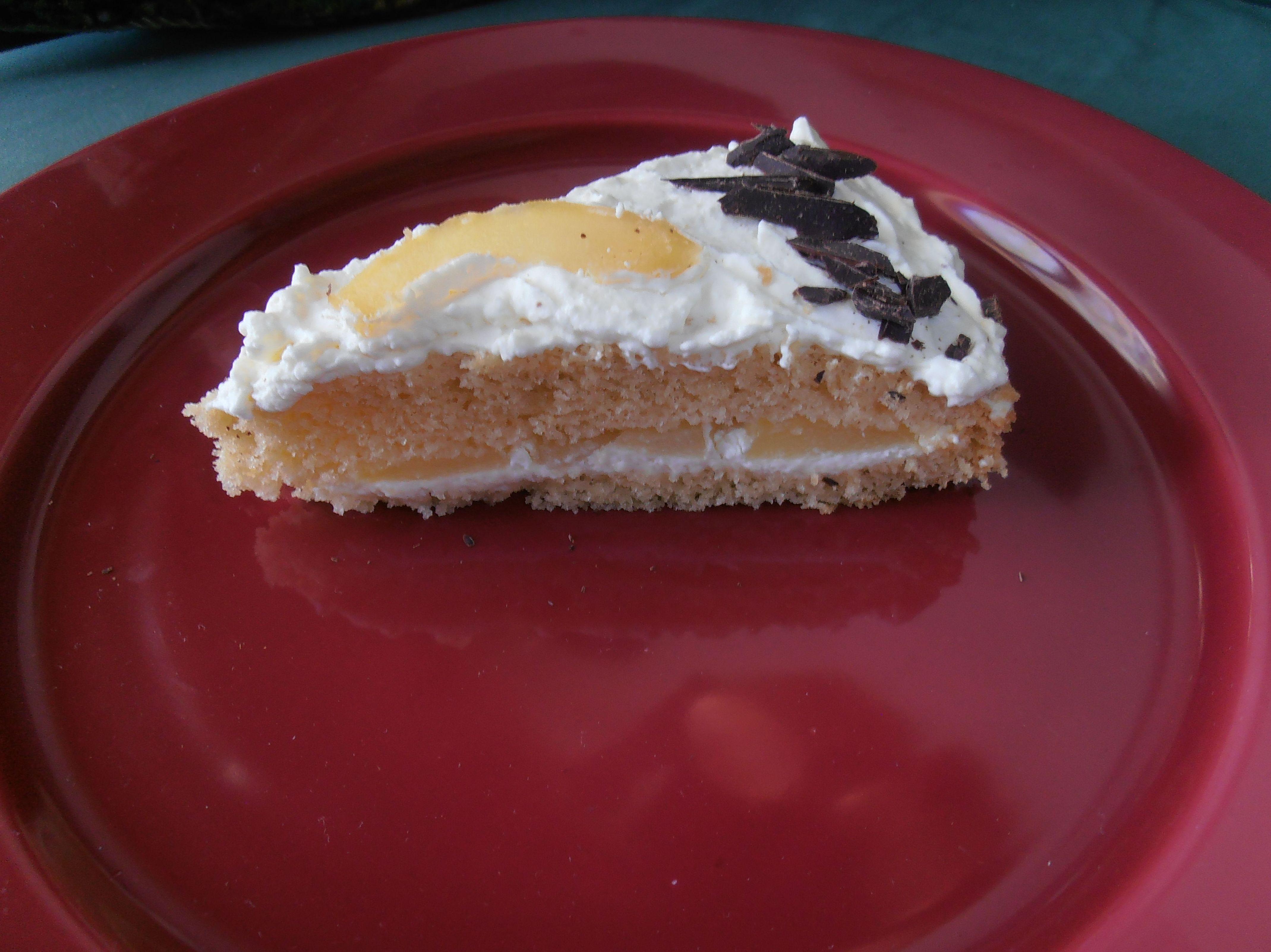 Porción de tarta sin gluten