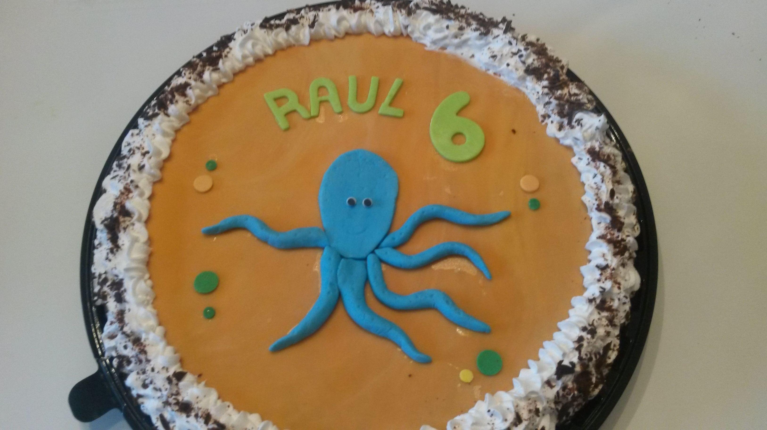 Pulpo para Raúl sin gluten ni lacteos ni huevo Choco trufa nata
