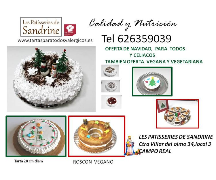 Oferta de tartas para Navidad
