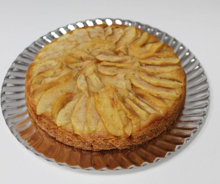 Tarta vegana de pera en Madrid sur