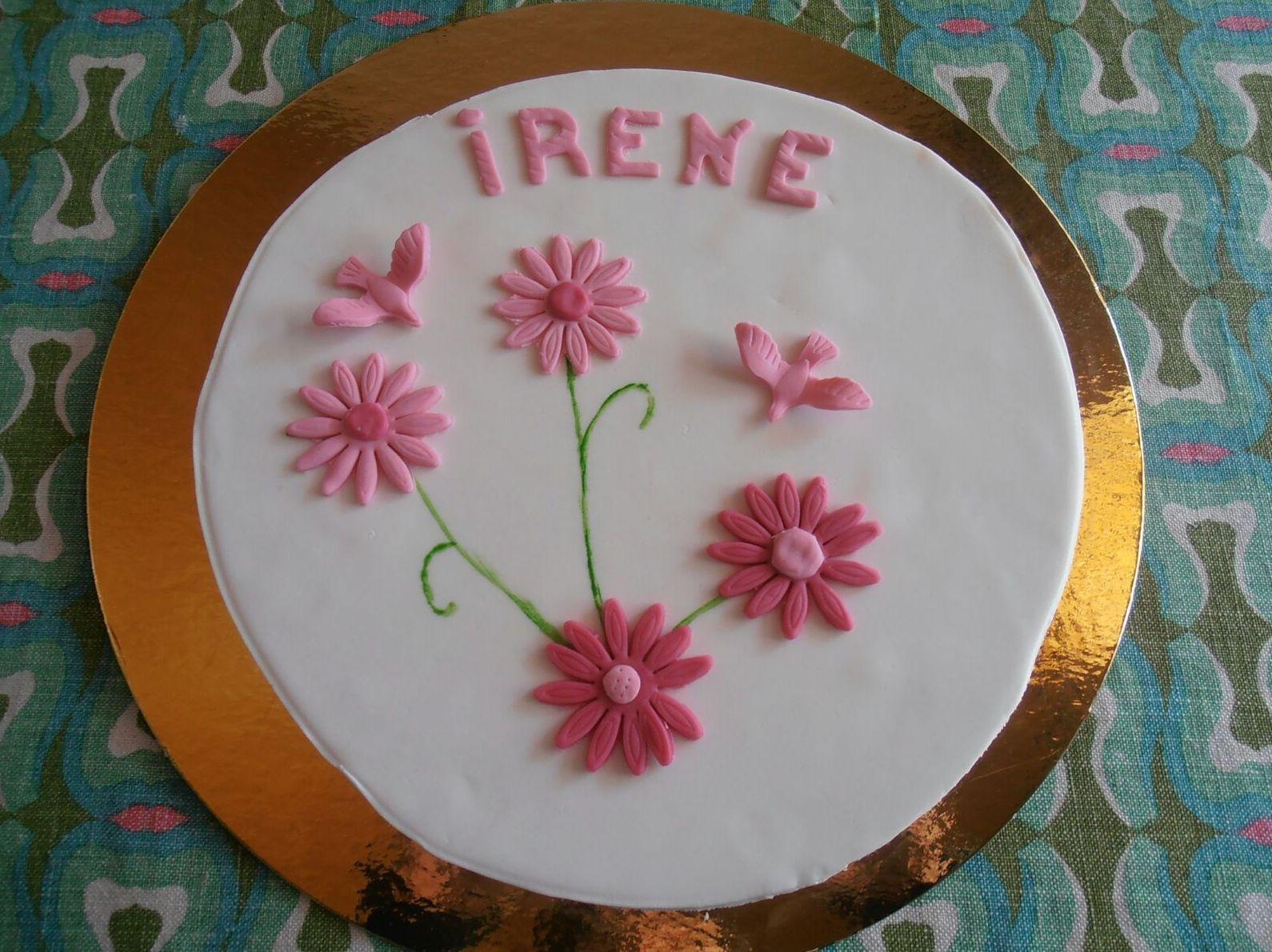 Tarta de cumpleaños para Irene