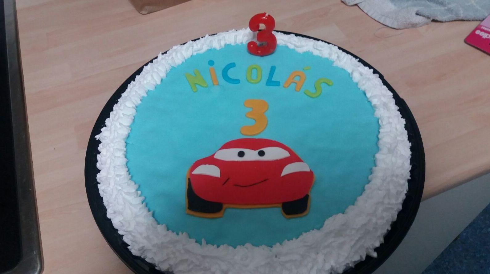 Tarta de cumpleaños para Nicolás