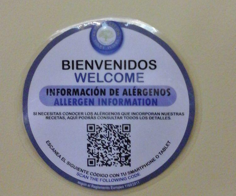 Información sobre alérgicos