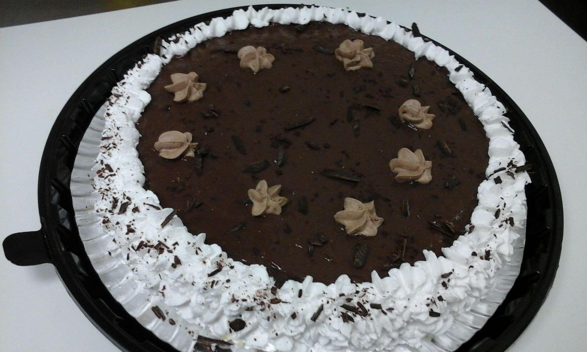 Tarta de chocolate y nata sin gluten