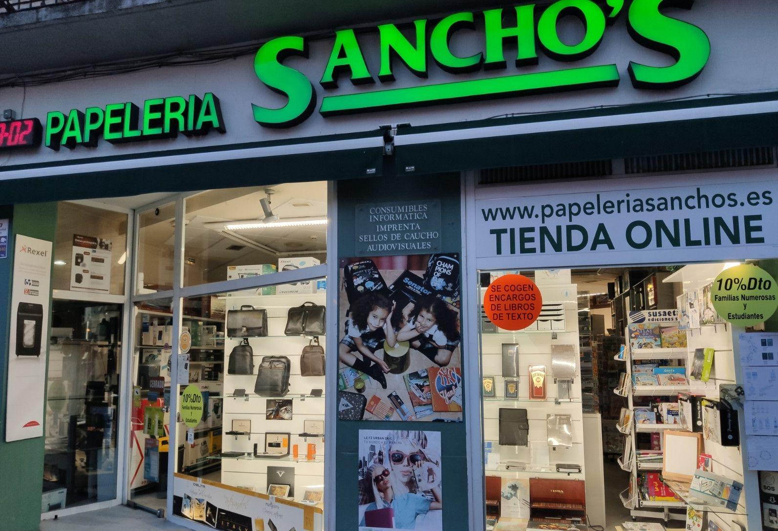 Papelería Sancho's te lo pone fácil. en tienda y también on line