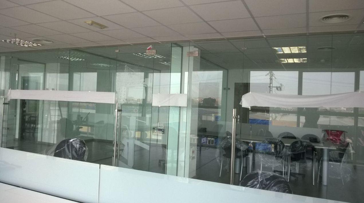 Divisorias de oficina en vidrio